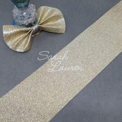 Glossy Gold Glitter Canvas 75mm ribbon