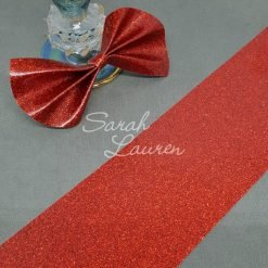 Glossy Red Glitter Canvas 75mm ribbon