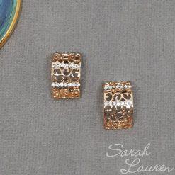 Gold cuff rhinestone embellishment centre