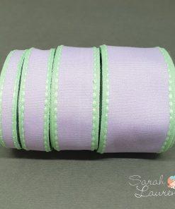 Grosgrain Stitch Ribbon Green & Purple set