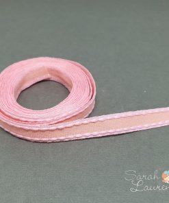 Grosgrain Stitch Ribbon Pink & Apricot 10mm