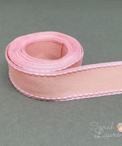 Grosgrain Stitch Ribbon Pink & Apricot 25mm