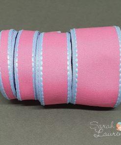 Grosgrain Stitch Ribbon Pink & Blue set