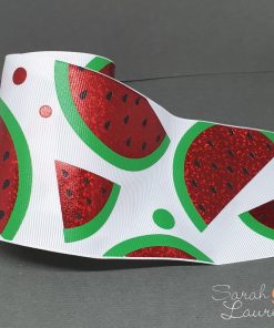 Holographic Watermelon Ribbon 75mm