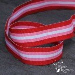 Lollypop stripe Cinnamon Sweetie grosgrain ribbon 22mm