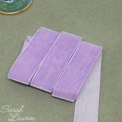 Lt Orchid Velvet Ribbon 25mm Lt Purple