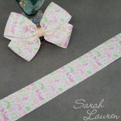 Marshmallow Easter Bunny ribbon 38mm