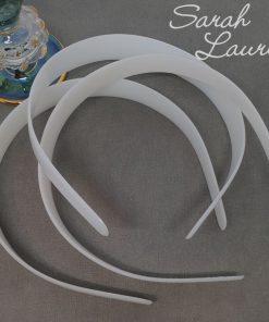 Milky White Plastic Headband Blanks-min