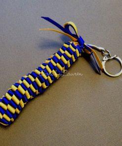 Mini Hawaiian Lei bag charm Kit Electric Blue Yellow Gold-min