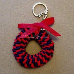 Mini Hawaiian Lei bag charm Kit Red Navy-min