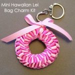 Mini Hawaiian Lei bag charm Kit Rose Pink Rose Bloom main-min