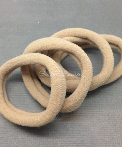 nylon ponytail holder small beige
