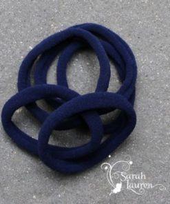 Nylon hair elastic navy