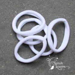 Nylon hair elastic white