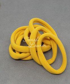 Nylon hair ties pony o hair elastic yellow gold-min