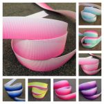 Ombre printed grosgrain ribbon collage