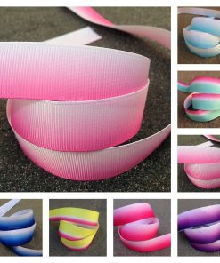 Printed Ombre grosgrain ribbon collage