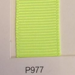 P977 Neon Yellow Grosgrain Ribbon