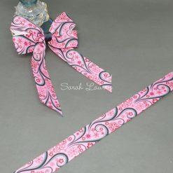 Pink Swirls Ribbon 22mm