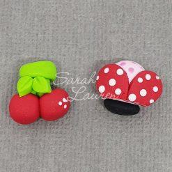 Polymer Clay Embellishments Ladybug cherry 110