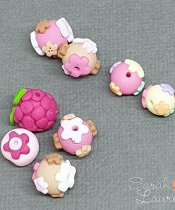 Polymer Clay round beads