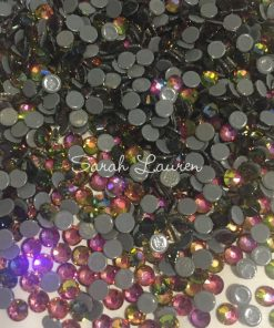 Premium Rainbow Hot Fix Rhinestones Crystals similar Vitrail Medium