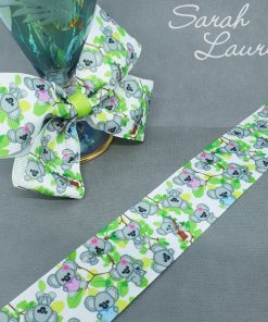 Printed Koala ribbon 38mm grosgrain