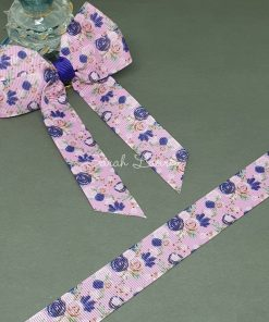 Purple Roses Ribbon 22mm