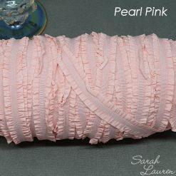 Frill Edge Elastic Ruffle Elastic Headbands Pearl Pink
