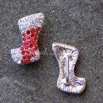 Christmas stocking Rhinestone slider flatback