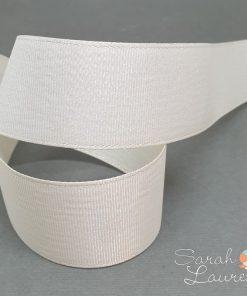 Silver Purl Ribbon Cream 38mm