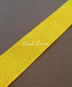 Daffodil Silver Glitter Ribbon Silver Purl Ribbon 22mm