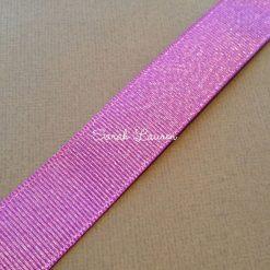 Grape Silver Glitter Ribbon Silver Purl Ribbon 22mm