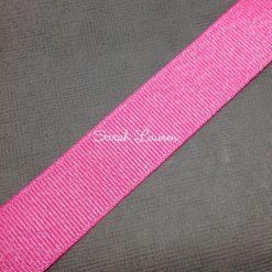 Hot Pink Silver Glitter Ribbon Silver Purl Ribbon 22mm