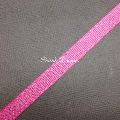 Silver Purl Ribbon Hot Pink Glitter Ribbon 22mm