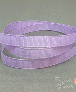 Silver Purl Ribbon Lt Orchid 9mm