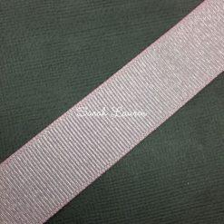 Pearl Pink Silver glitter ribbon Silver Purl Ribbon 22mm