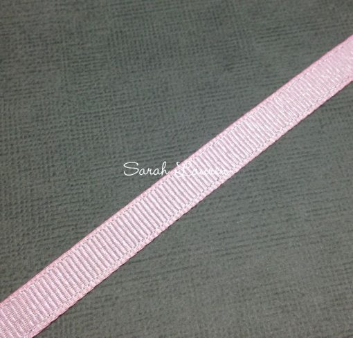 Silver Purl Ribbon Pearl Pink Glitter Ribbon 9mm