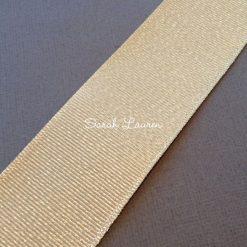 Silver Purl Ribbon Raw Silk Glitter Ribbon 38mm