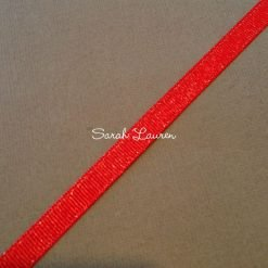 Silver Purl Ribbon Red Glitter Ribbon 9mm