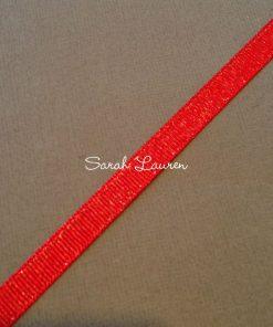 Silver Purl Ribbon Red Glitter Ribbon 9mm