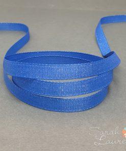 Silver Purl Ribbon Royal Blue 9mm