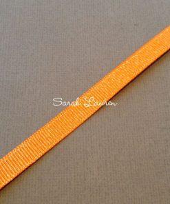 Silver Purl Ribbon Tangerine Glitter Ribbon 9mm