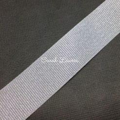 White Silver Glitter Ribbon Purl Ribbon 22mm