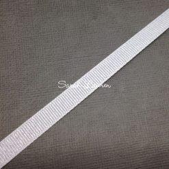 Silver Purl Ribbon White Glitter Ribbon 9mm