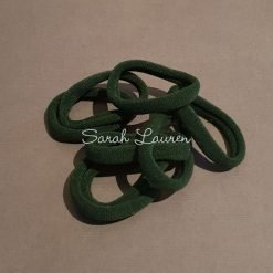Small nylon hair tie pony o Hunter Bottle green-min