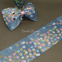 Stars on Denim Ribbon 75mm