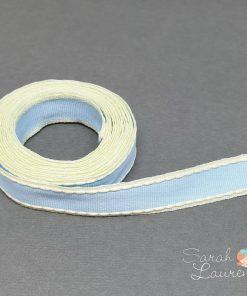 Stitch Grosgrain Ribbon Blue & Yellow 16mm