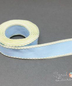 Stitch Grosgrain Ribbon Blue & Yellow 25mm