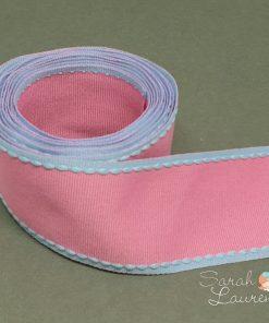 Stitch Grosgrain Ribbon Pink & Blue 38mm